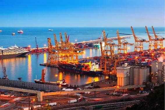 Porto industrial de Barcelona