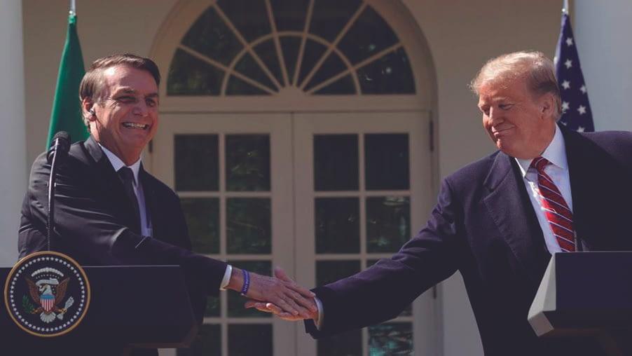 Trump diz que quer um acordo de livre comércio com Brasil
